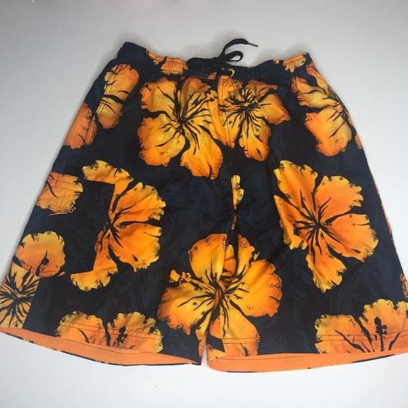 Speedo Other - Speedo Swim Trunks Hawaiin Print Floral Pocket